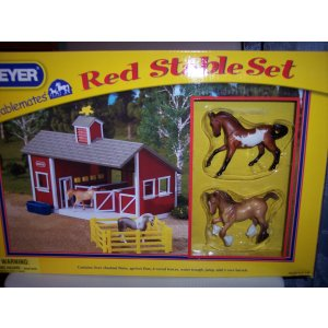 Breyer Stablemates Red Stable Set #59197