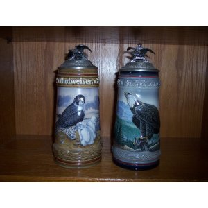 Budweiser Birds of Prey Steins Set