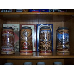 Budweiser Classic Edition Series Steins Set