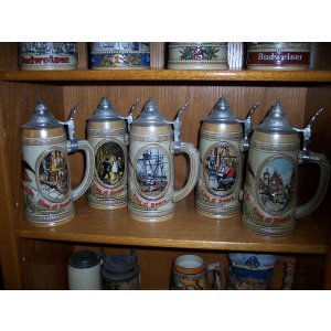 Budweiser Limited Edition Lidded Steins Tomorrow's Treasures